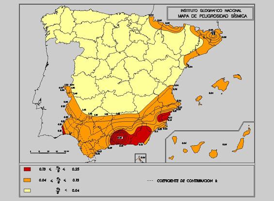 mapa peligrosidad sismica